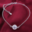 miniature 33 - 925 Sterling Silver Plated Anklet Ankle Bracelet Crystal Foot Chain Ladies CZ UK