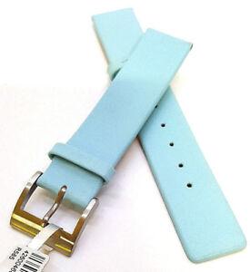 Echtleder-Uhrenarmband-18mm-Hellblau-Babyblau-R585-Watch-strap