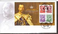 AUSTRALIA, KING GEORGE V CENTENARY OF STAMPS,  MIN SHEET FDC