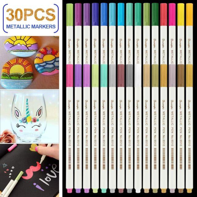 30 Farben Wasserfeste Stifte Metallic Marker St RATEL Acrylstifte Marker Stifte