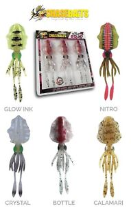 CHASEBAITS-ULTIMATE-SQUID-5-9-034-3pk-SEABASS-ROCK-FISH-SALTWATER-LURE-SELECT-COLOR