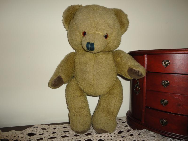 Antique Khaki verde Plush Teddy Bear