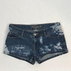 368f157d66 Decree Juniors Size 7 Blue Denim 100% Cotton Distressed Dark Wash ...