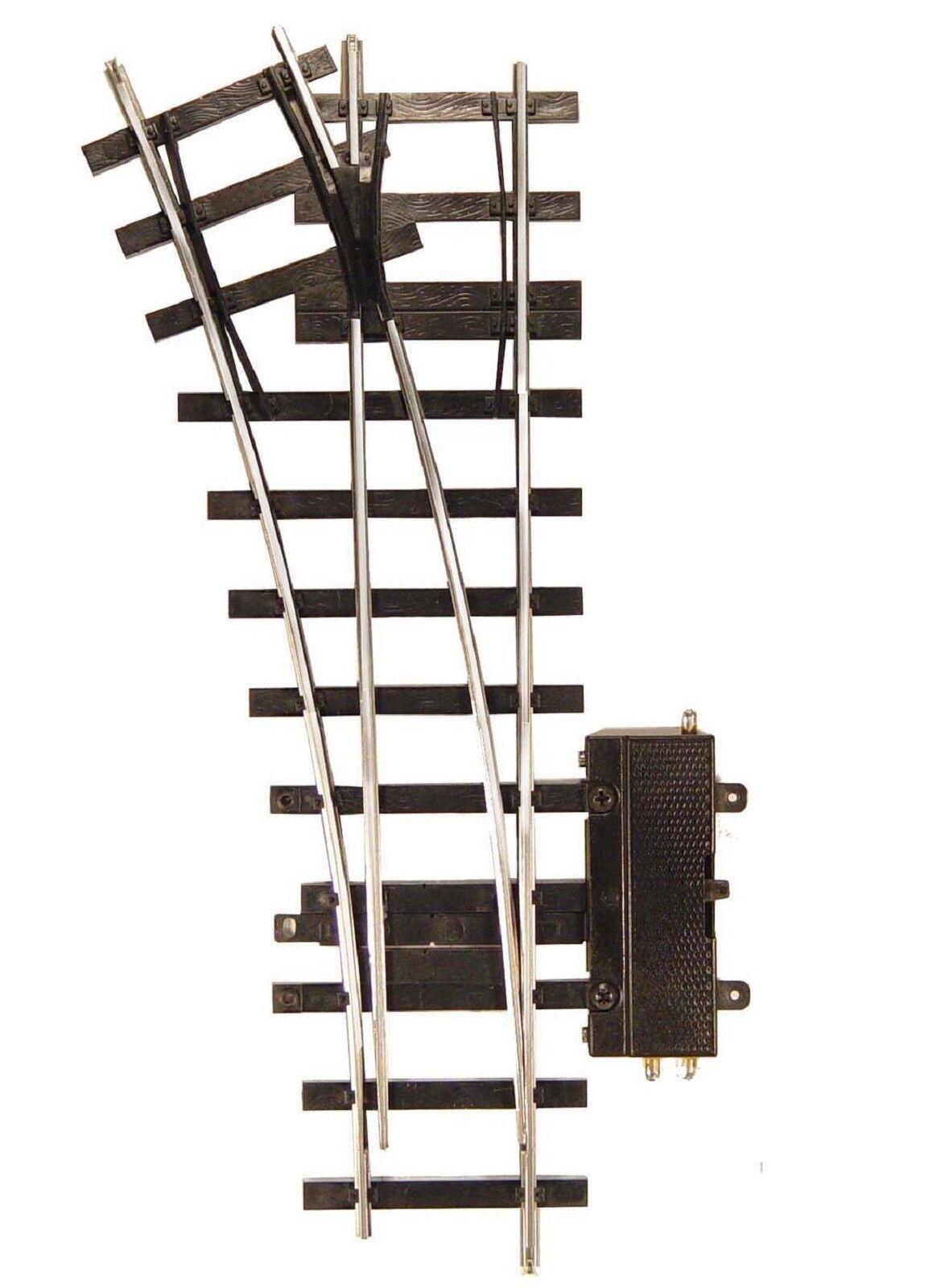 652 aiguillage droit motorisé avec eclisses ETS Train ech O 1/43