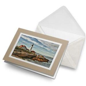 Greetings-Card-Biege-Cape-Elizabeth-Lighthouse-Beach-View-16180