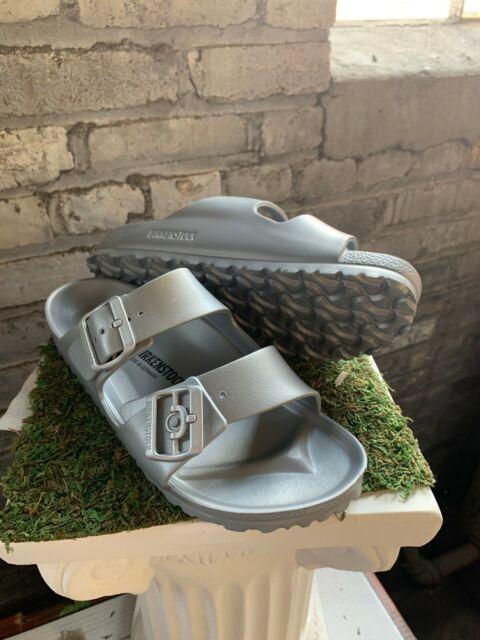 NEW Women's Birkenstock Arizona EVA Slide Silver Narrow Fit Sandal Pick Size