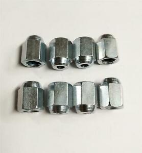8X-femelle-frein-Union-nuts-IMPERIAL-steel-pipe-tube-3-8-034-Unf-X-24TPI-menuisier