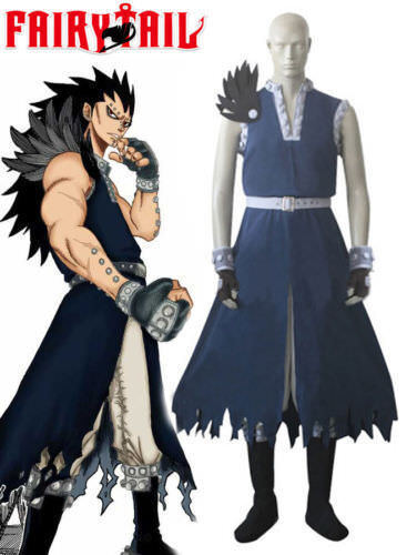 new Tail Dragon Slayer Gajeel Redfox Cosplay Costume Outfit Custom-made #25