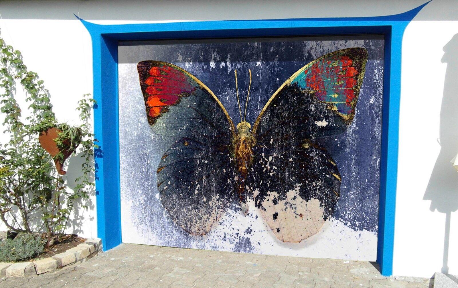 3D Butterfly Sample 56 Garage Door Murals Wall Print Wall AJ WALLPAPER UK Lemon