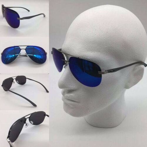 Men/'s 2020 Silver Metal Alloy Frame Blue Mirror TAC Polarized Lenses Sunglasses