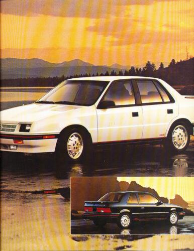 1988 Dodge Shadow 10-page Original Canada Car Sales Brochure Catalog