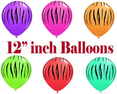 "12/"" Pouces Zébré Imprimé Animal Rayures Party Supplies Ballons /& Décorations"