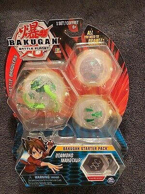 Bakugan Battle Planet Diamond Maxotaur Starter Pack New