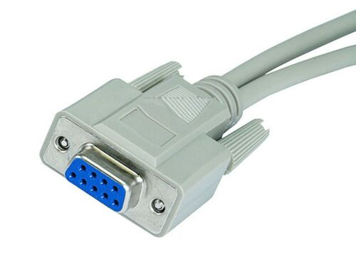 RS232 Mouse Monitor Splitter Y Cable DB9 Female F to 2x DB9 DB 9 Male M Adapter