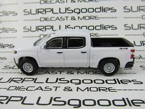 Greenlight-1-64-Scale-LOOSE-White-2019-CHEVROLET-SILVERADO-1500-4X4-Pickup-Truck