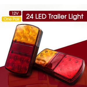 12V-LED-Rear-Stop-Brake-Lights-Waterproof-Trailer-Caravan-BAR-POST-SUMERGABLE