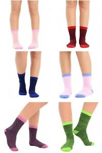 Womens-Thermal-Winter-Socks-Warm-Thick-Assorted-Colours-UK-4-6-3-6-12-Pairs