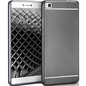 Silikon-Case-fuer-Huawei-P8-Smooth-Schutz-Huelle-in-Ultra-Slim-Neu-Back-Cover-Duenn