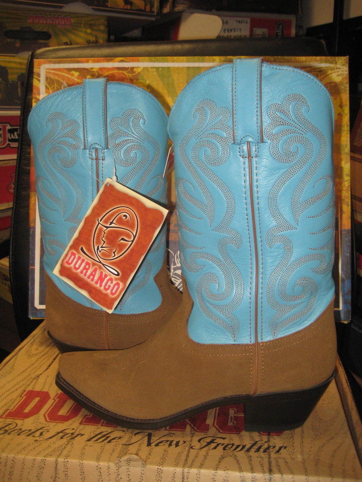 Durango women's women's women's Boots RD5102 Brown Suade foot and sky bluee shaft dcb8b9