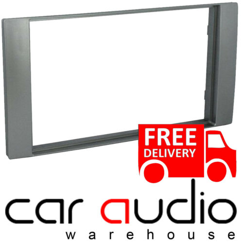 Connects2 CT24FD21 Ford Transit 2006 On Car Stereo Silver Double Din Facia Panel