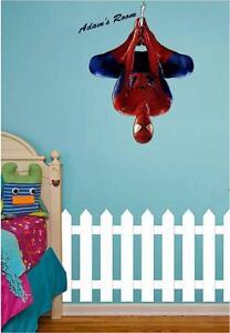 SPIDERMAN Personnalisé À N/'importe Quel Nom mural Art chambre à coucher