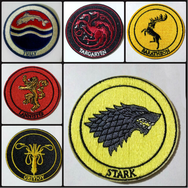 House patch, Stark, Lannister, Targaryen etc