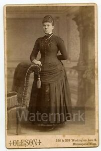 Cabinet-Card-Photo-Standing-Lady-by-Oleson-Minneapolis-MN-LBG1