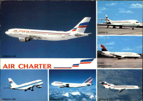 Super 10 uvm. Flugzeuge color Postkarte Airline AIR CHARTER Boeing Airbus