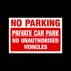 NO-PARKING-PRIVATE-CAR-PARK-SIGNS-amp-STICKERS-ALL-SIZES-ALL-MATERIALS-MISC30