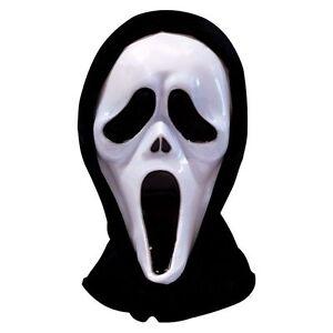 1x Fancy Dress Scream Horror Ghost Mask Screaming Movie White Face ...