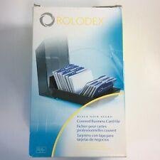 Rolodex Covered Business Card File Tray 200 Sleeved Cards A Z Indexed Tabs 67208