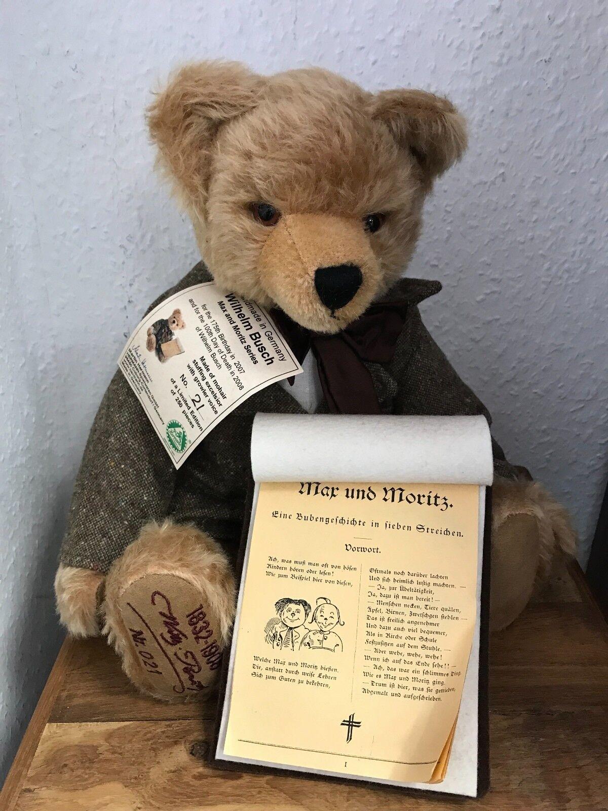 Hermann TEDDY ORSO Wilhelm Busch 41 cm. disponibilità limitata. MATTONCINI.