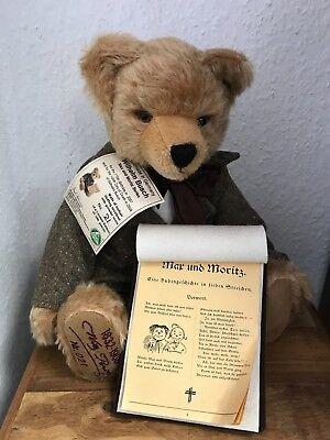 Dinamico Hermann Teddy Orso Wilhelm Busch 41 Cm. Disponibilità Limitata. Mattoncini.-mostra Il Titolo Originale