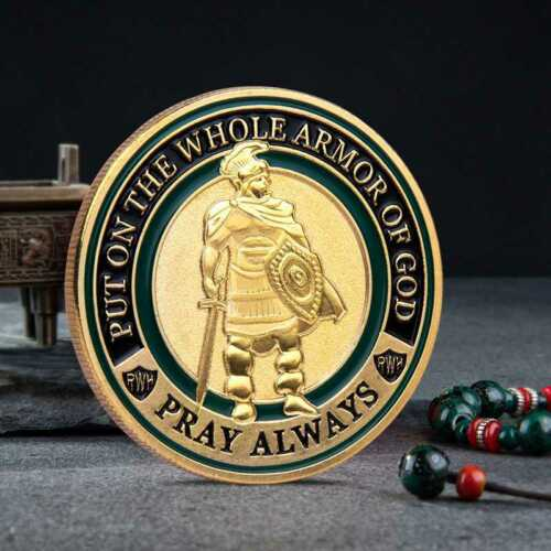 Put On the Whole Armor Of God Commemorative Challenge Coin Collection Design
