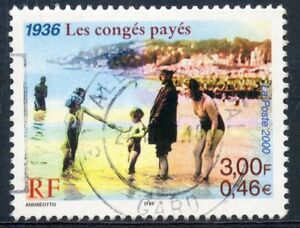 HonnêTeté Stamp / Timbre France Oblitere N° 3352 / Les Conges Payes 1936 Gagner Une Grande Admiration Et On Fait Largement Confiance à La Maison Et à L'éTranger.