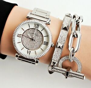a870ff8125c2 Michael Kors Watch Women s Watch Mk3355 Catlin Colour Silver Crystal ...