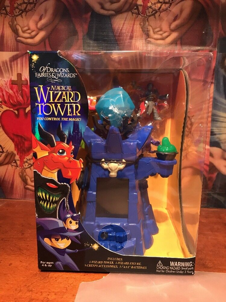 Magical Wizard Tower Play set Of Dragons Fairies Wizards FREE Shipping