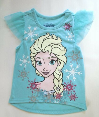 FROZEN ELSA GRAPHIC T-SHIRT SNOWFLAKES DISNEY BABY TODDLER GIRLS NWT $18 SIZE 2T