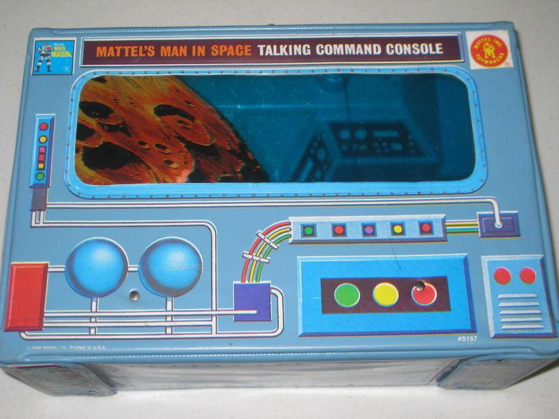 Mattel Major Matt Mason hablando consola de comandos 1966