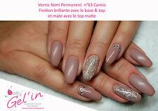 Vernis Semi Permanent NAILITY UV/LED/CCFL n°63  Caress 7ml GEL POLISH USA