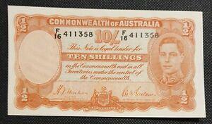 1939 Australia 1st 10 Shillings George VI R12 SHEEHAN/McFARLANE gXF  F/16 411358