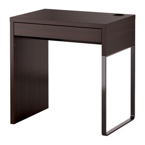 Ikea Micke Children Desk Computer Workstation Table Black Brown Modern