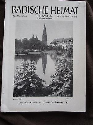 Badische Heimat 1959 Freiburg Im Breisgau Münster Buchmalerei Ebringen Burgen
