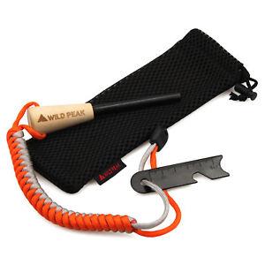 Premium-Firesteel-Firestarter-avec-Paracord-Bracelet-Qualite-Ferro-Magnesium-Rod