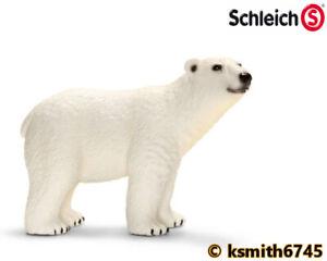 IngéNieux Schleich Ours Polaire Solide Jouet En Plastique Wild Zoo Arctic Animal * Nouveau * ????-afficher Le Titre D'origine Assurer IndéFiniment Une Apparence Nouvelle