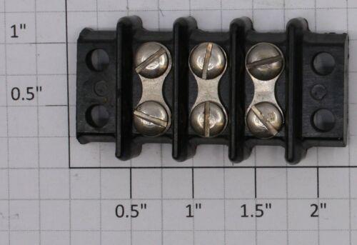 Acme 20-3  3-Position Dual Row Screw Terminal Electric Barrier Strip