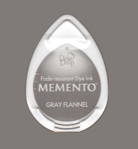 Stempelkissen-Tinte-Ink-Memento-DewDrop-gray-flannel-flanell-grau-Mini-MD902