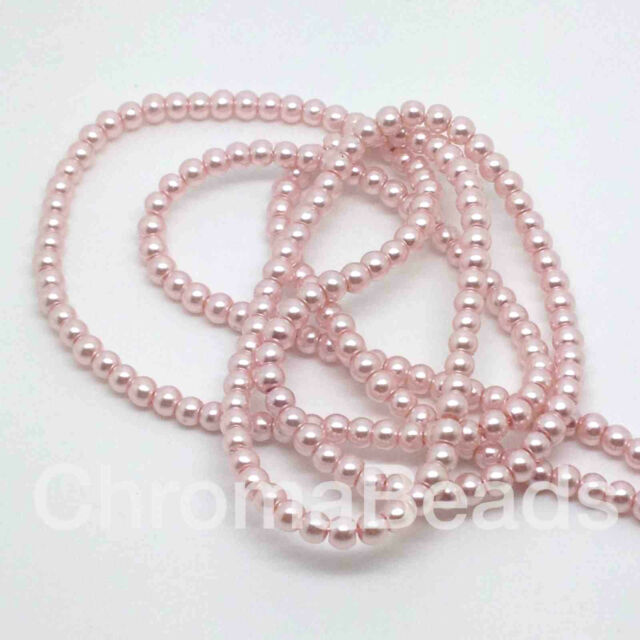 Ruby Red 3mm Glass Faux Pearls strand craft jewellery making 230+ beads
