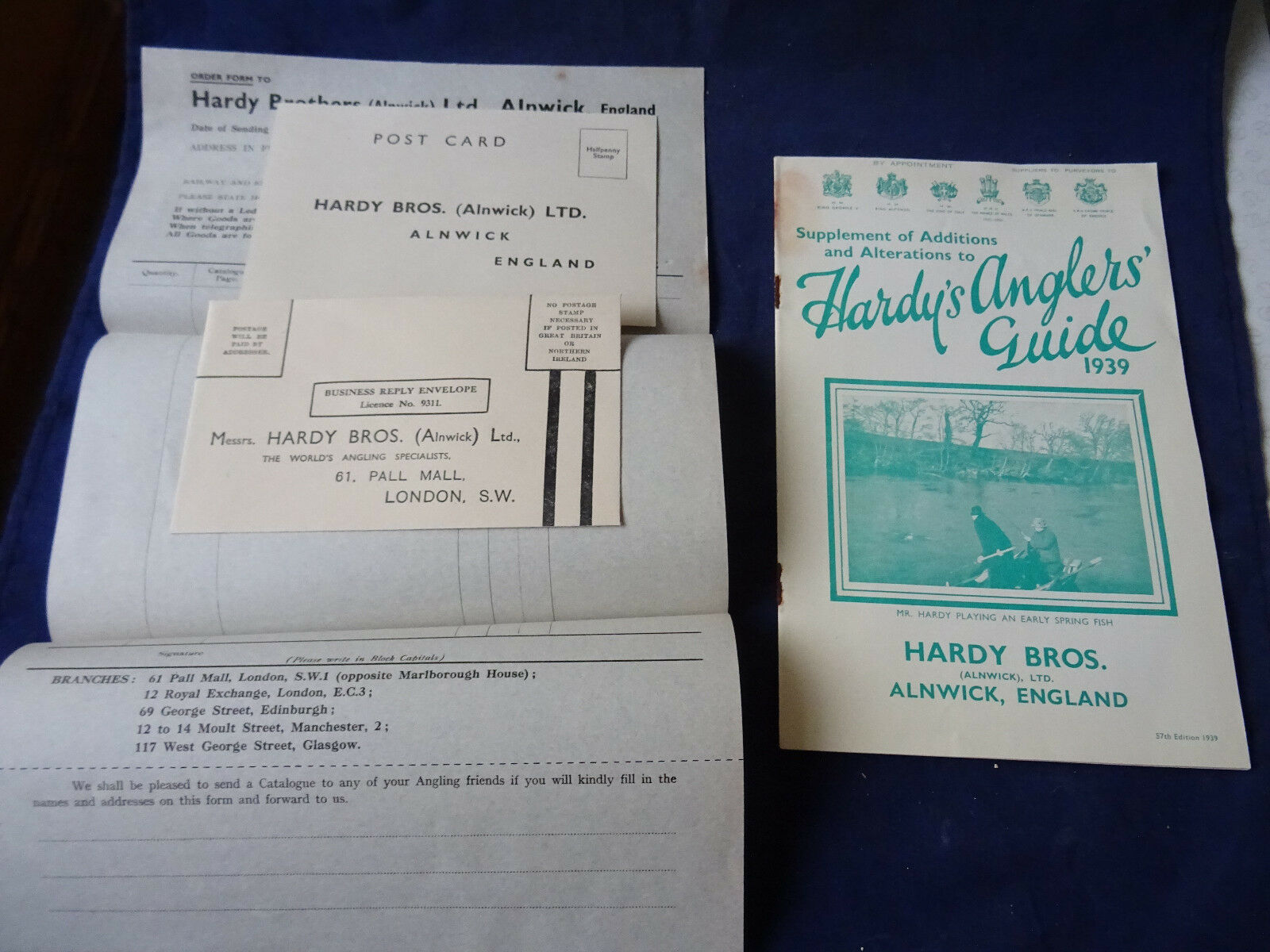 SCARCE VINTAGE HARDY ADgreenISING FISHING CATALOGUE SUPPLEMENT OF ADDITIONS 1939