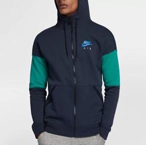 eb509e58f23d Nike Air Full Zip Hoodie Sweater Jacket Obsidian Green Size XXL ...